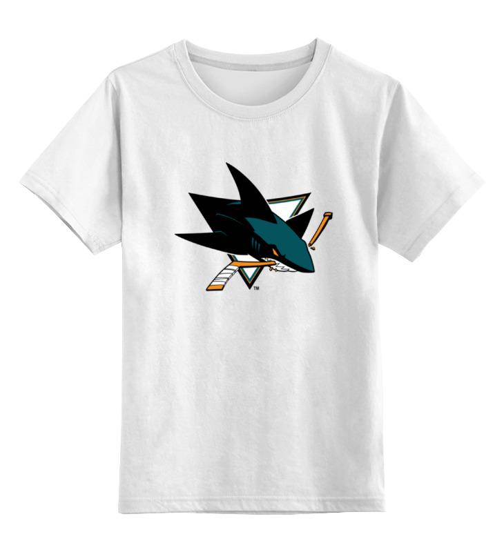 Детская футболка классическая унисекс Printio San jose sharks / nhl usa футболка wearcraft premium slim fit printio san jose sharks nhl usa