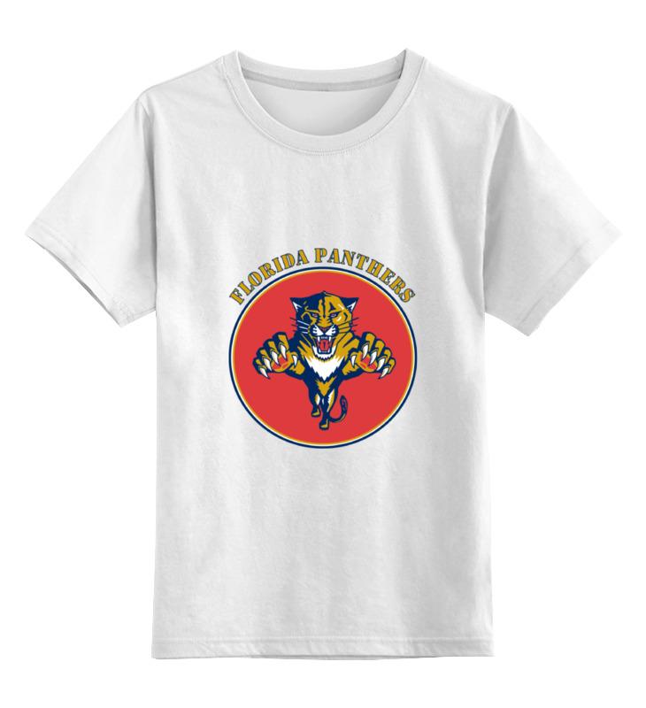 Детская футболка классическая унисекс Printio Флорида пантерс цена