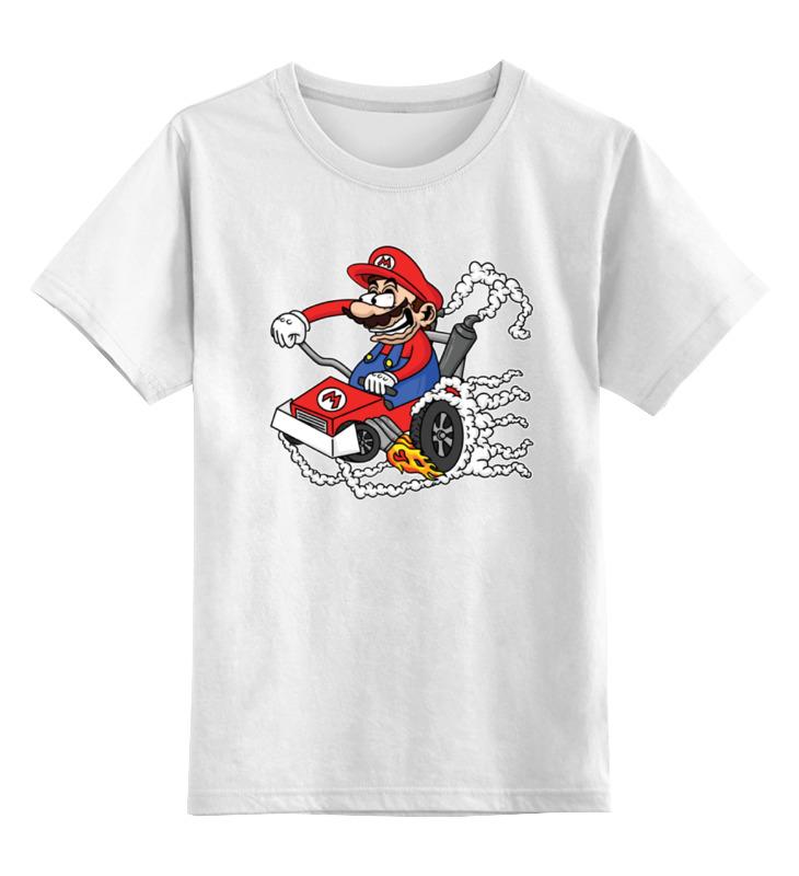 Детская футболка классическая унисекс Printio Марио карт майка классическая printio классическая аркада