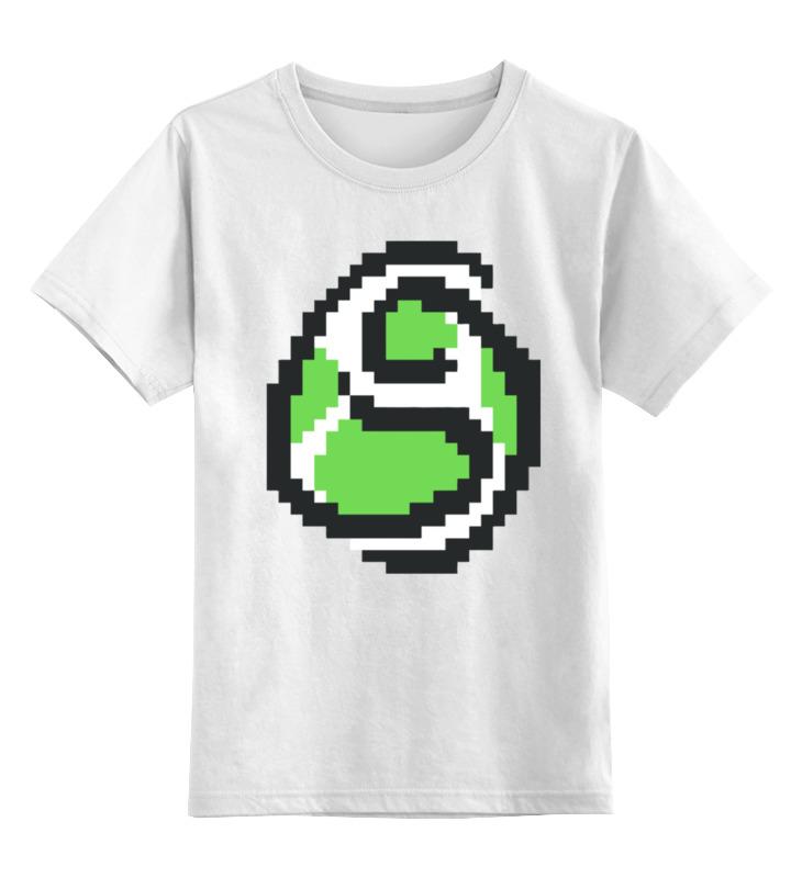 Детская футболка классическая унисекс Printio Яйцо йоши (марио)