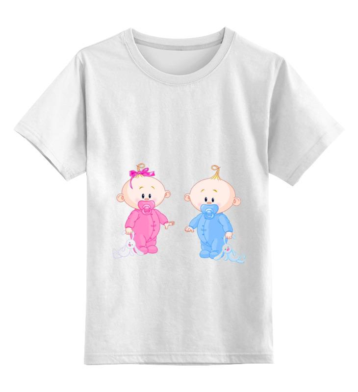 Детская футболка классическая унисекс Printio Дочка или сыночек