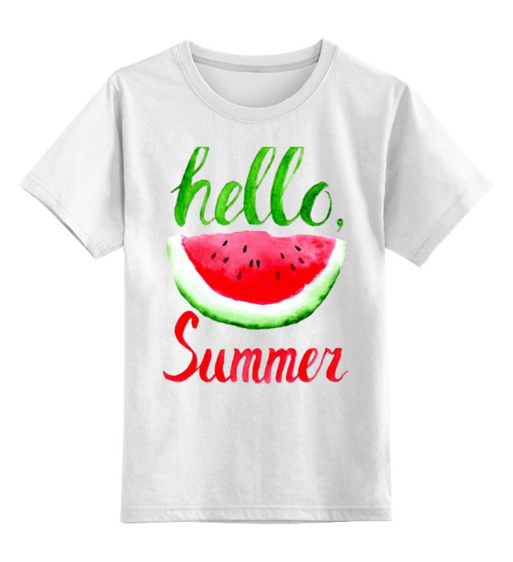 Детская футболка классическая унисекс Printio Hello summer