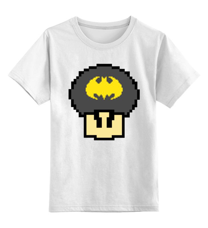 Детская футболка классическая унисекс Printio Гриб марио (бэтмен) цена и фото