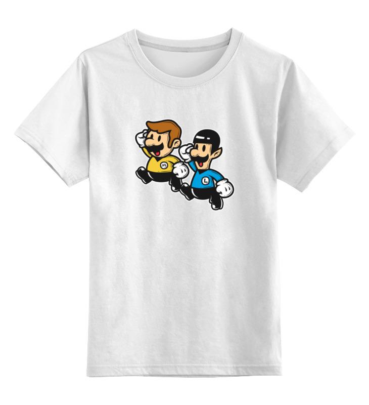 Детская футболка классическая унисекс Printio Звездный путь (марио) детская футболка классическая унисекс printio марио