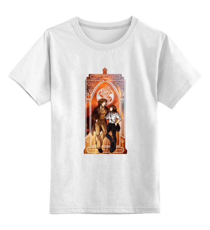 Детская футболка классическая унисекс Printio Восьмой доктор и клара (eighth doctor and clara)