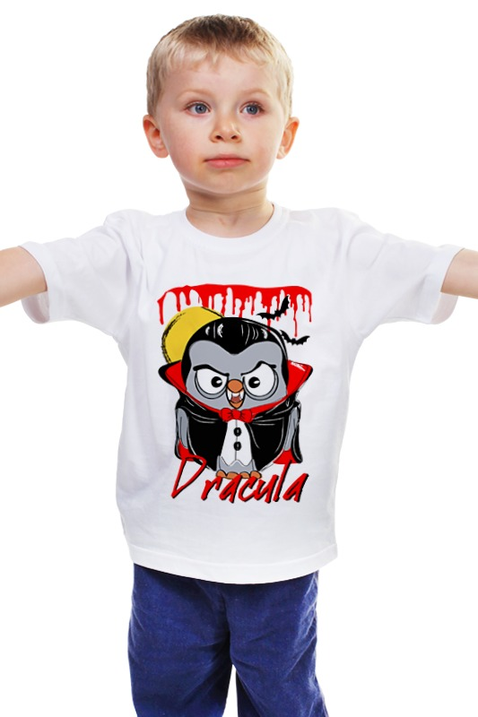 Детская футболка классическая унисекс Printio Сова дракула суперсова goofi футболка wearcraft premium printio сова дракула суперсова goofi