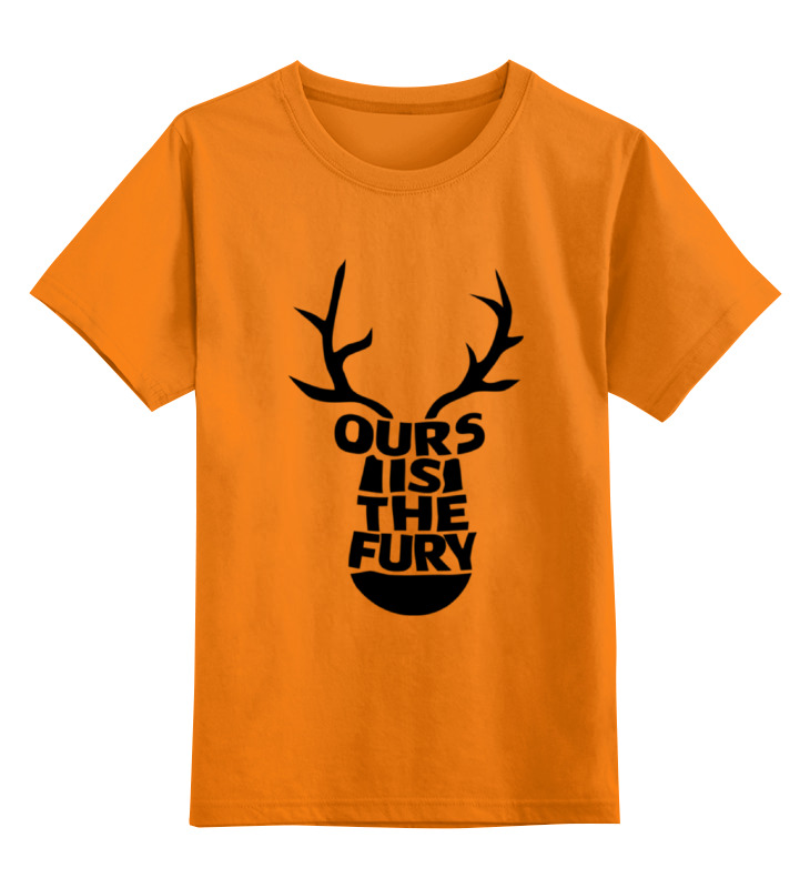 Детская футболка классическая унисекс Printio Нам ярость (ours is the fury) these days are ours