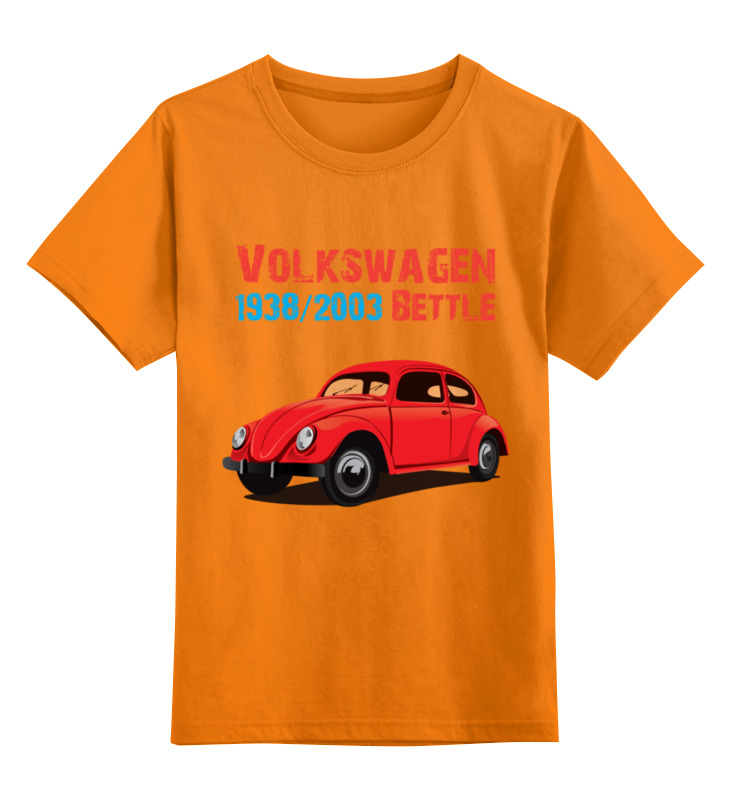 Детская футболка классическая унисекс Printio Вольскваген жук конструктор фиксики легковой автомобиль 2 в 1