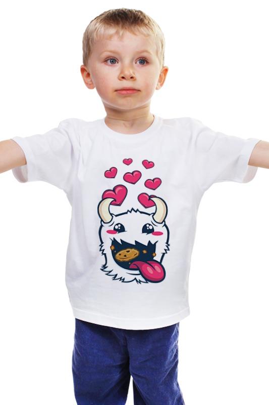 Детская футболка классическая унисекс Printio poro snax (league of legends) майка классическая printio poro snax league of legends