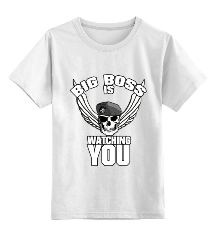 лучшая цена Детская футболка классическая унисекс Printio Big boss is watching you