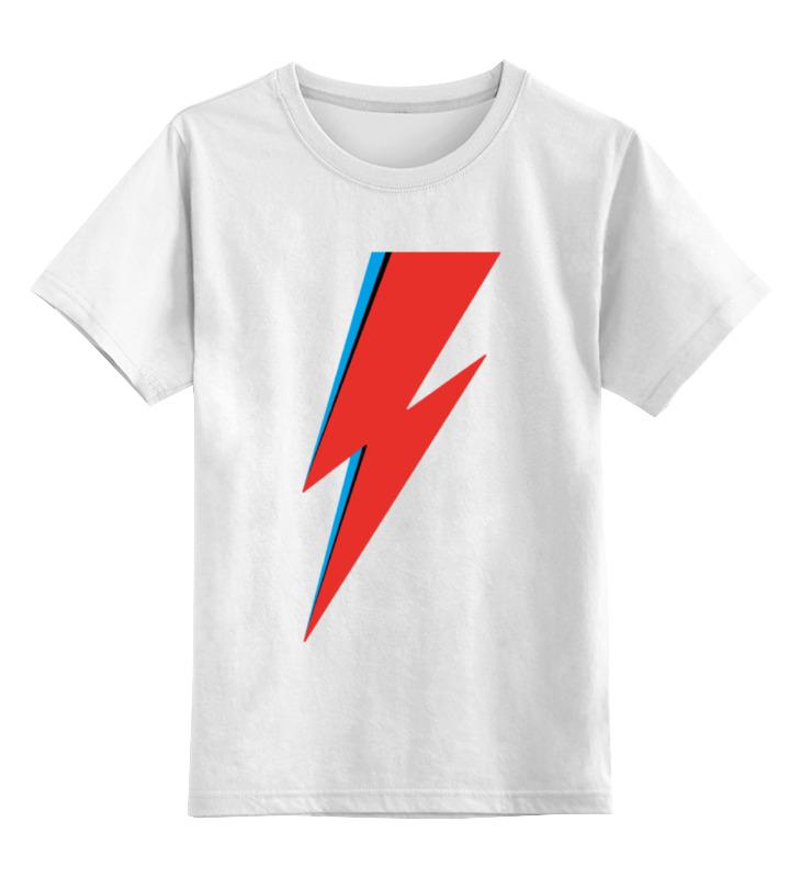 Детская футболка классическая унисекс Printio David bowie lightning bolt