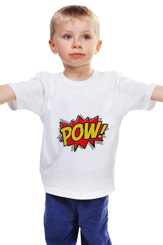 Детская футболка классическая унисекс Printio Pooow! детская футболка классическая унисекс printio мачете