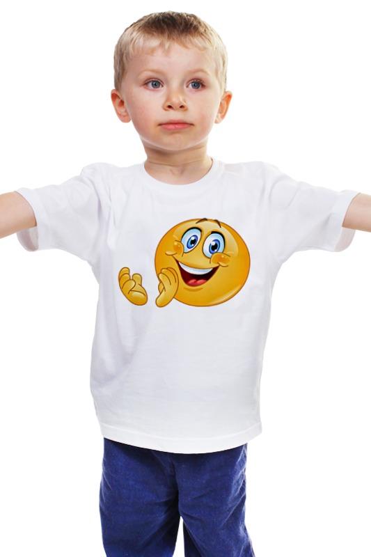 Детская футболка классическая унисекс Printio Колобок улыбающийся. смех радость. smile