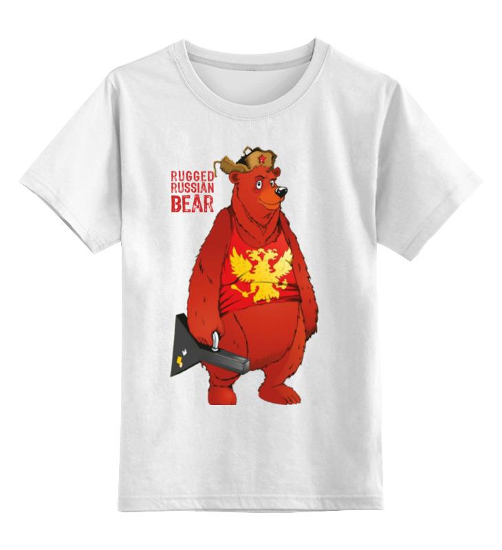 Детская футболка классическая унисекс Printio Rugged russian bear rugged compass clip