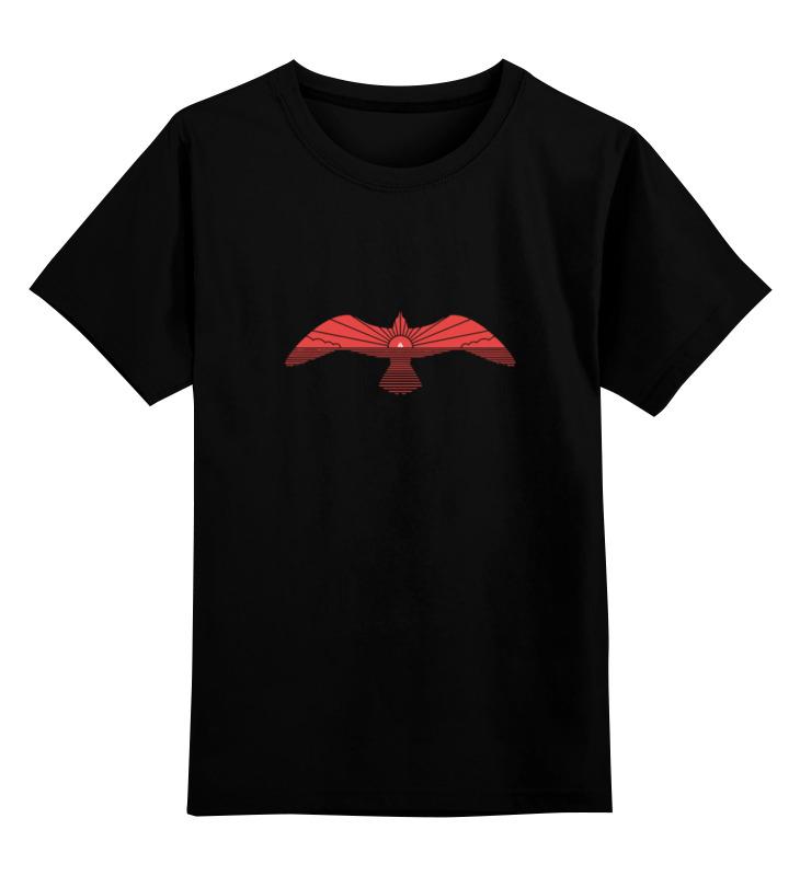 Детская футболка классическая унисекс Printio Red bird / красная птица футболка 501 красная