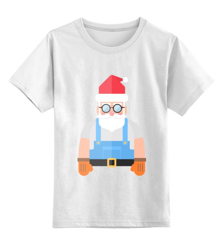 Детская футболка классическая унисекс Printio Дед мороз-строитель детская футболка классическая унисекс printio дед мороз