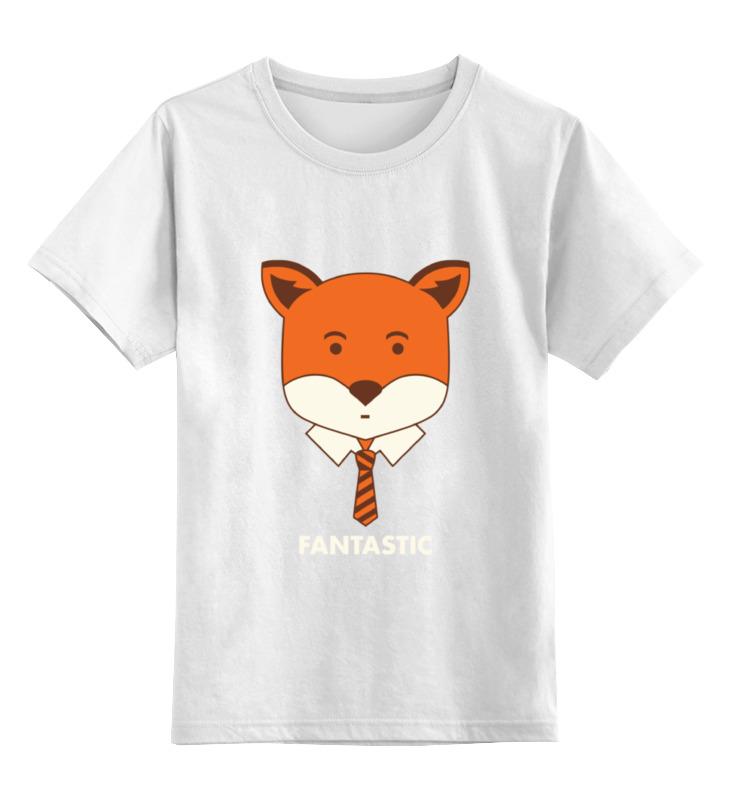 Детская футболка классическая унисекс Printio Лис с галстуком игрушка полесье автомобиль тёма самосвал