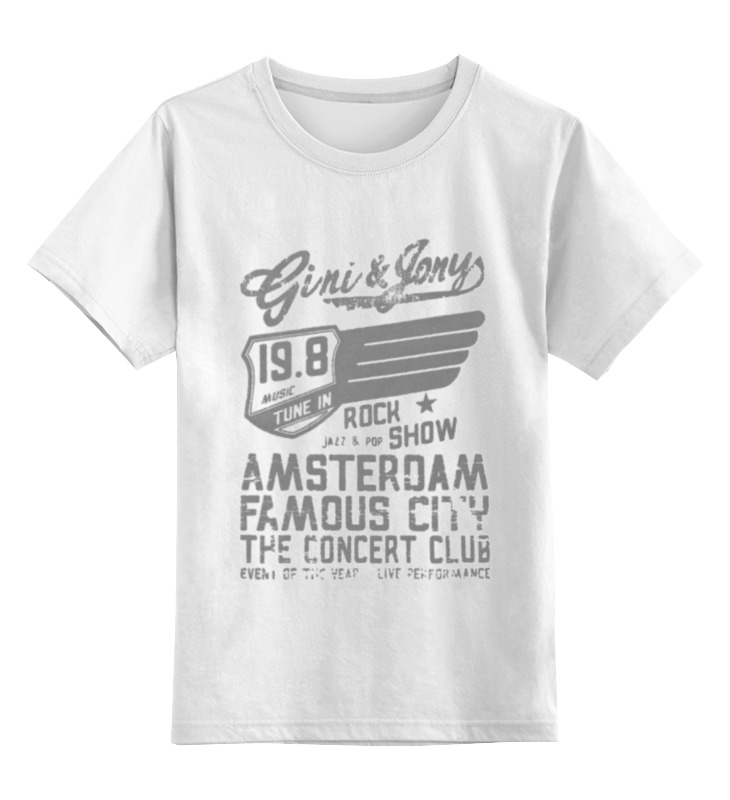 Детская футболка классическая унисекс Printio Gini & jony boy amsterdam rock show parquet courts amsterdam