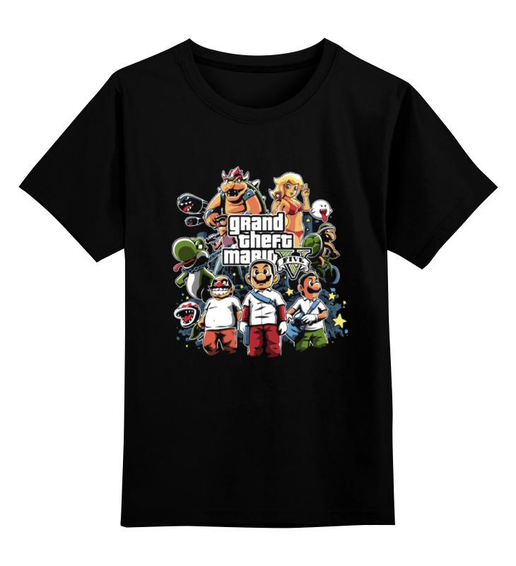 Детская футболка классическая унисекс Printio Mario gta футболка классическая printio gta 5 dog