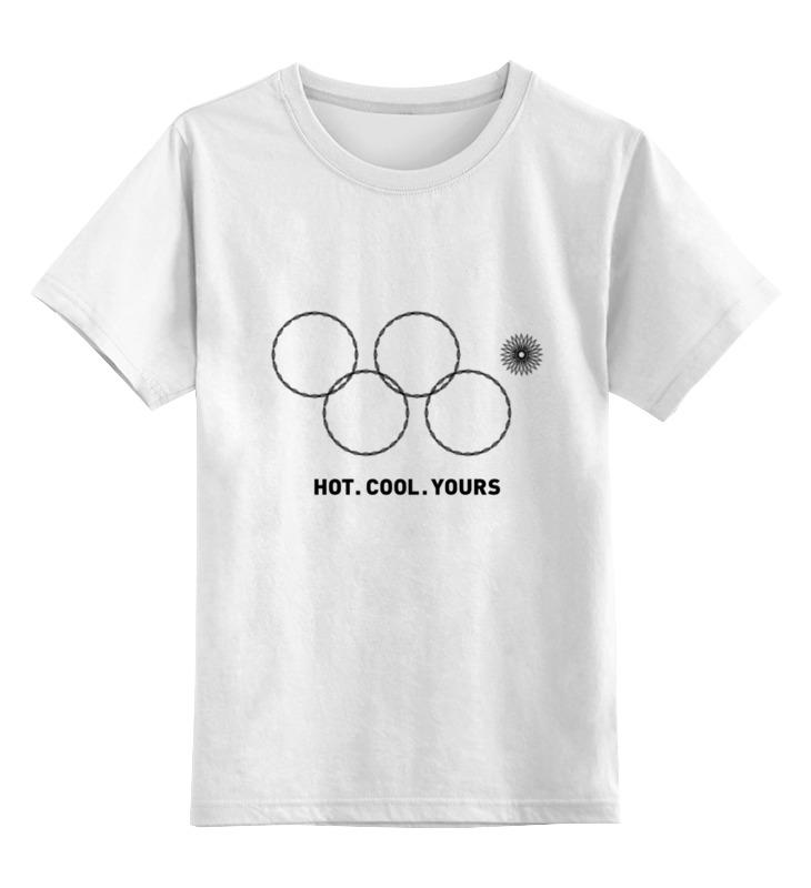 Детская футболка классическая унисекс Printio Олимпийские кольца в сочи 2014 кольца кюз дельта 114454 d