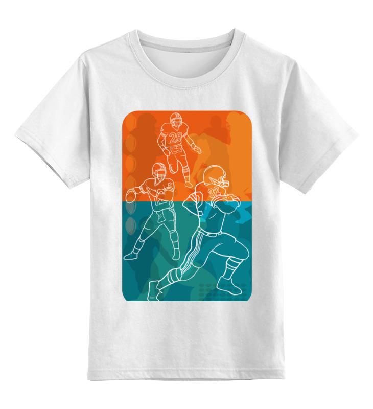 Детская футболка классическая унисекс Printio Регби.американский футбол. детская футболка классическая унисекс printio медсестра