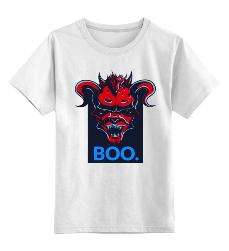 Детская футболка классическая унисекс Printio Boo