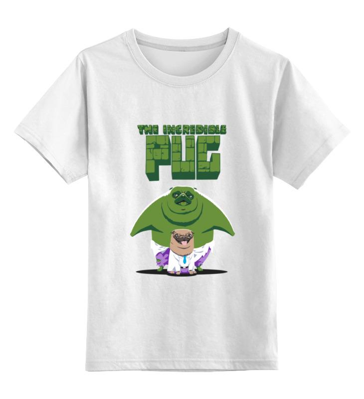 Детская футболка классическая унисекс Printio Невероятный мопс sbart upf50 rashguard 2 bodyboard 1006