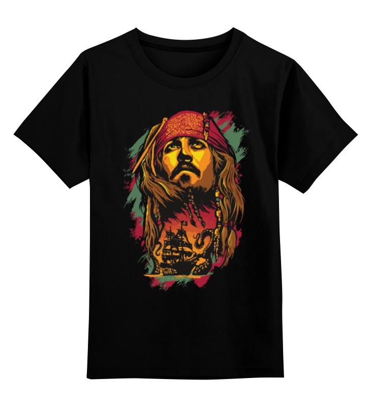 где купить Детская футболка классическая унисекс Printio Джек воробей (пираты карибского моря) по лучшей цене
