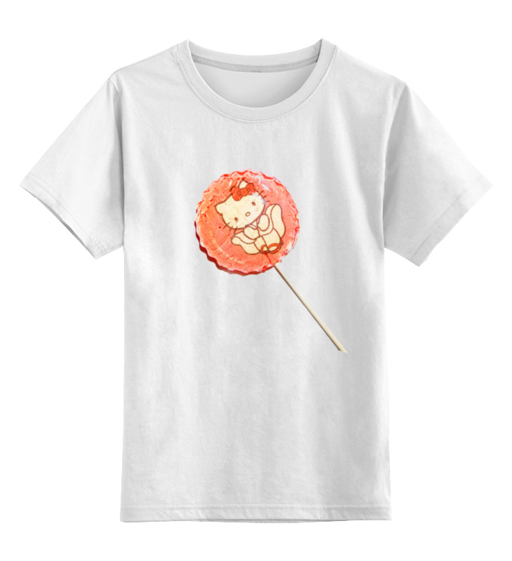 Детская футболка классическая унисекс Printio Леденец на палочке леденец на палочке оптом иркутск