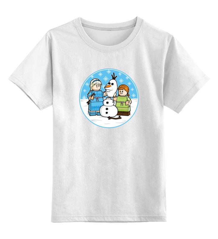 Детская футболка классическая унисекс Printio Холодное сердце цена и фото