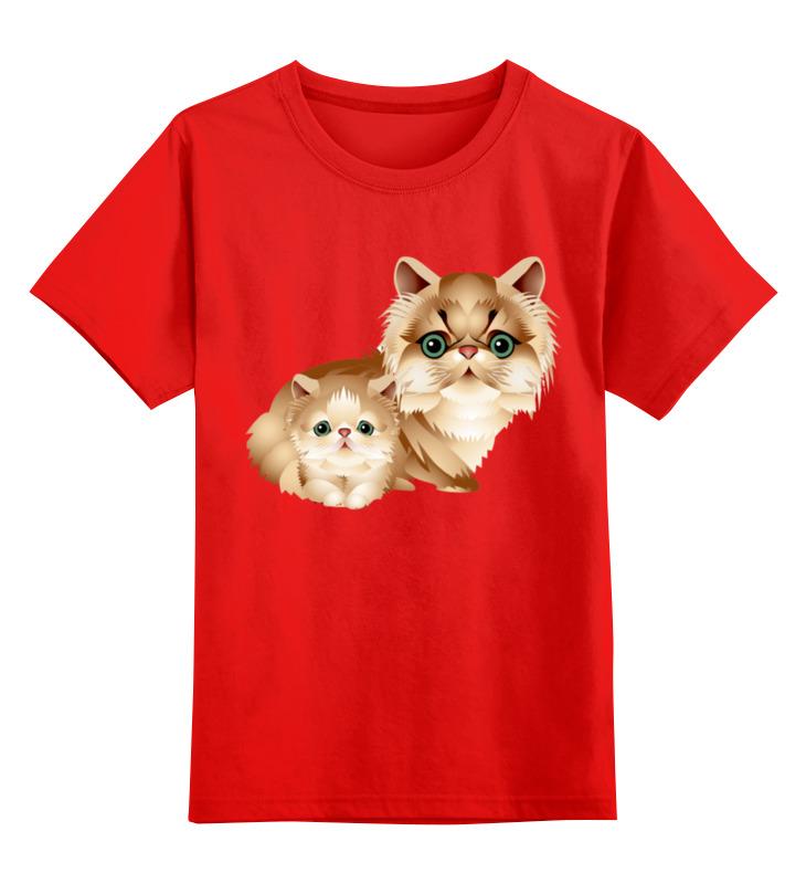 Детская футболка классическая унисекс Printio Кошечки smoby детская горка king size цвет красный