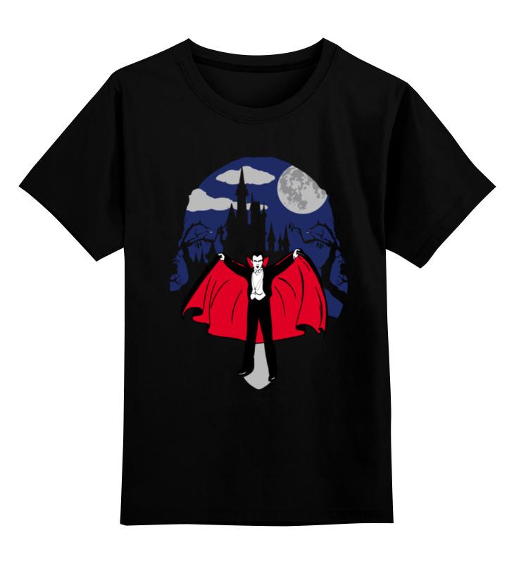 Детская футболка классическая унисекс Printio Дракула цена и фото