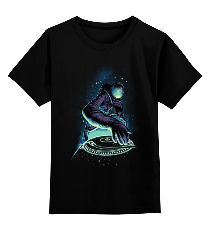 Детская футболка классическая унисекс Printio Космонавт диджей цена и фото
