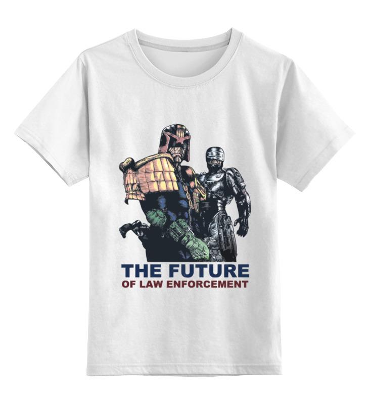 Детская футболка классическая унисекс Printio Дредд и робокоп рой к в надежных руках