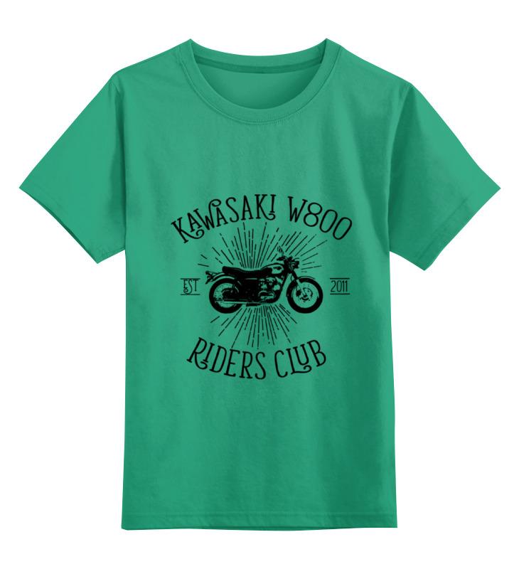 Детская футболка классическая унисекс Printio Kawasaki w800 riders club