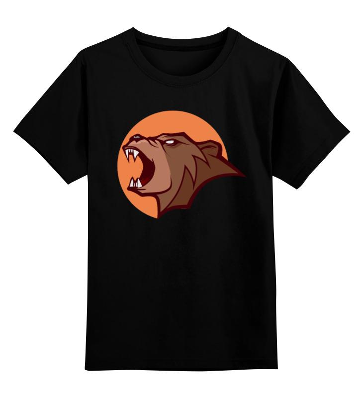 Детская футболка классическая унисекс Printio Bear / медведь лонгслив printio bear beer медведь и мед