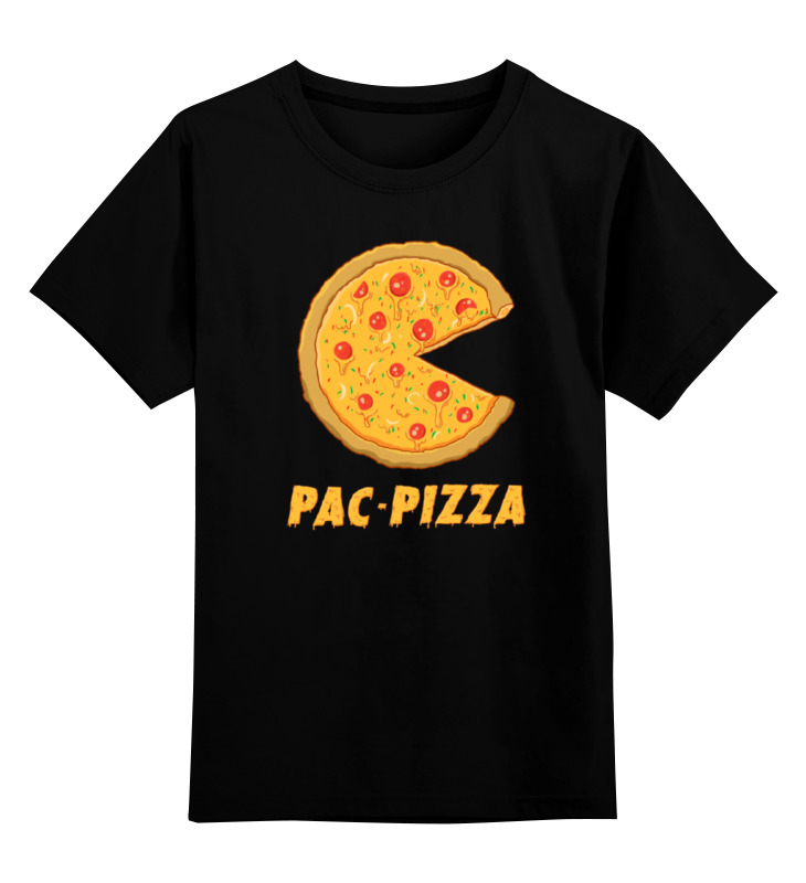 Детская футболка классическая унисекс Printio Пак-пицца