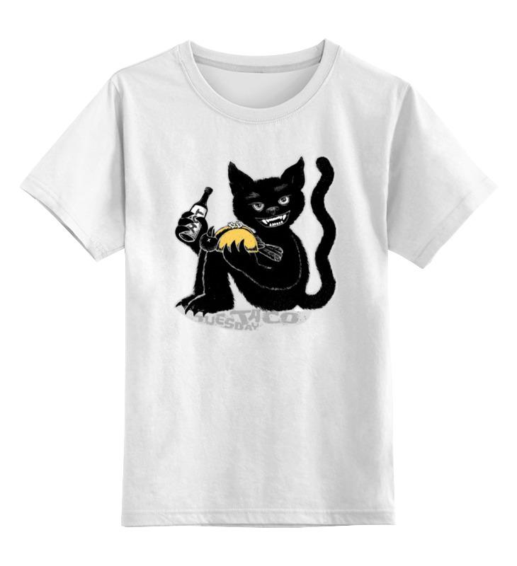 Детская футболка классическая унисекс Printio Наглый чёрной кот футболка классическая printio наглый чёрной кот