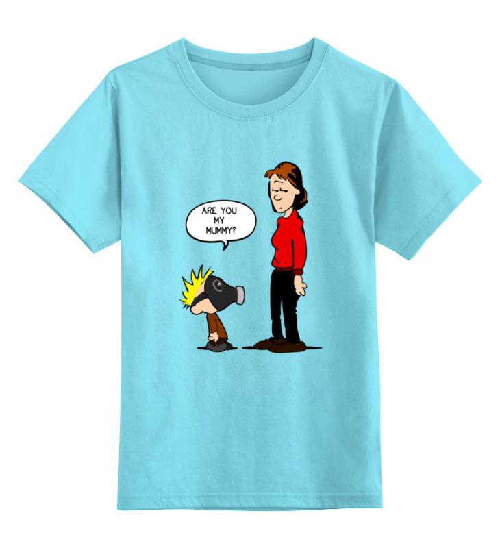 Детская футболка классическая унисекс Printio Ты моя мамочка? лонгслив printio ты моя мамочка page 7