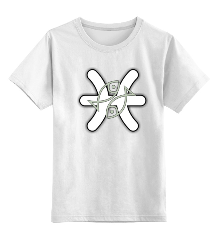 Детская футболка классическая унисекс Printio Знак зодиака рыбы.