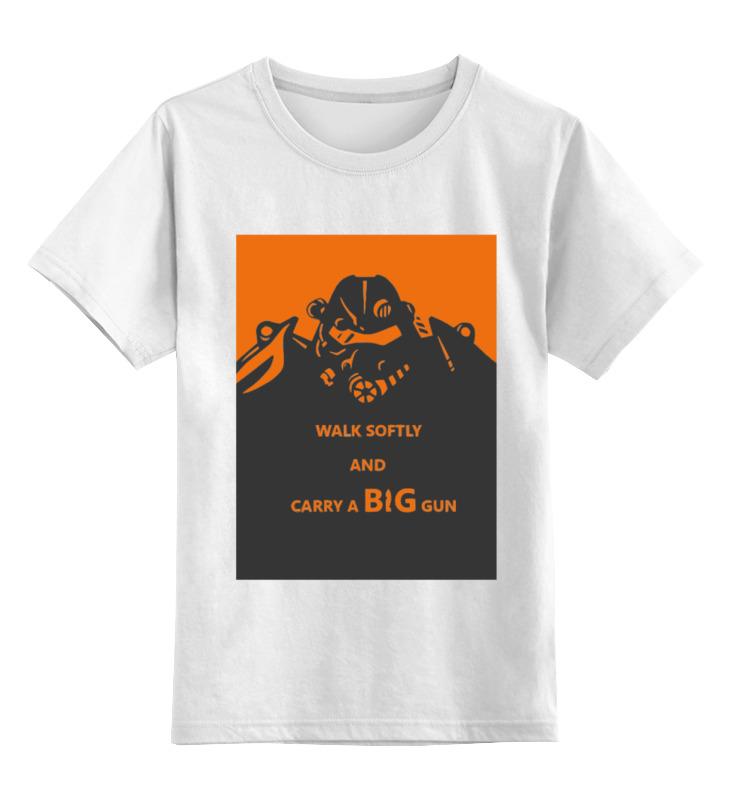 Детская футболка классическая унисекс Printio Fallout - big gun детская футболка классическая унисекс printio броня крепка
