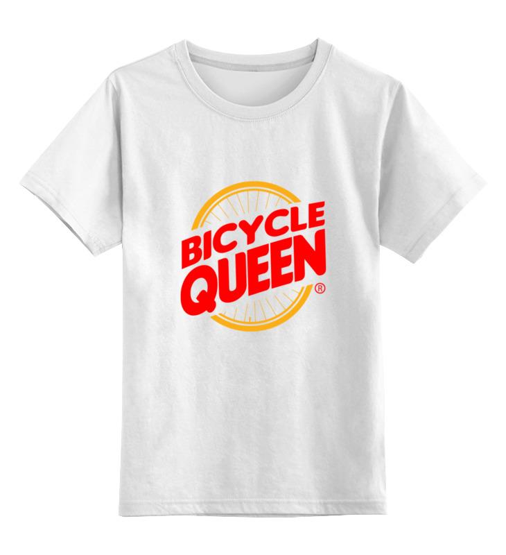 Детская футболка классическая унисекс Printio Велосипедная королева