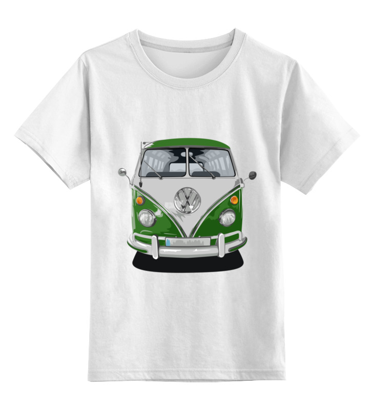 Детская футболка классическая унисекс Printio Volkswagen shu ke 1 18 t1 volkswagen bread schuco berlin fire truck engine car model