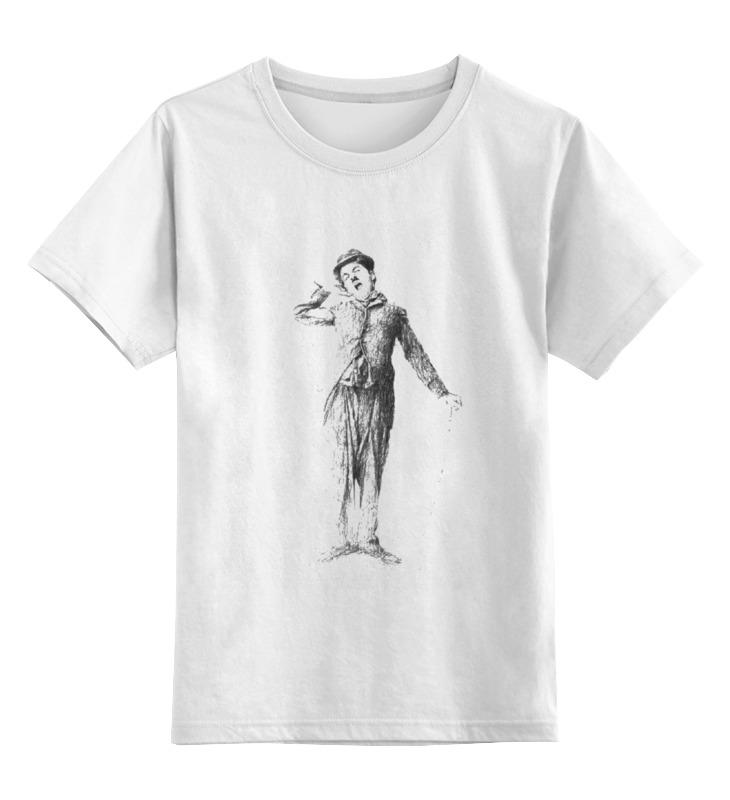 Детская футболка классическая унисекс Printio Чарли чаплин война чарли