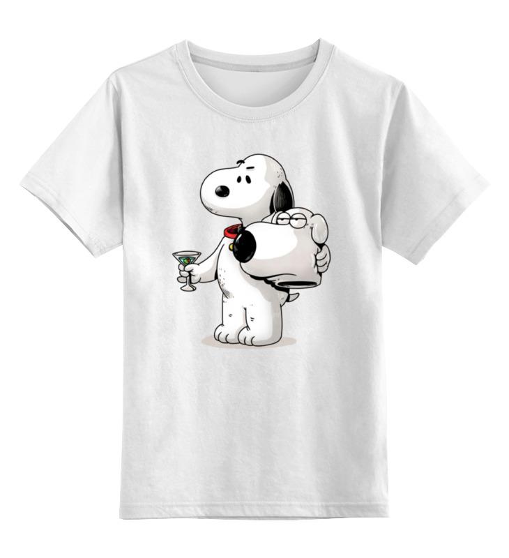 Детская футболка классическая унисекс Printio Кроссовер: гриффины х снупи лонгслив printio кроссовер гриффины х снупи