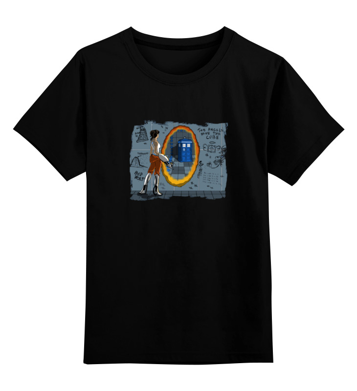 Детская футболка классическая унисекс Printio Tardis portal футболка классическая printio tardis usa