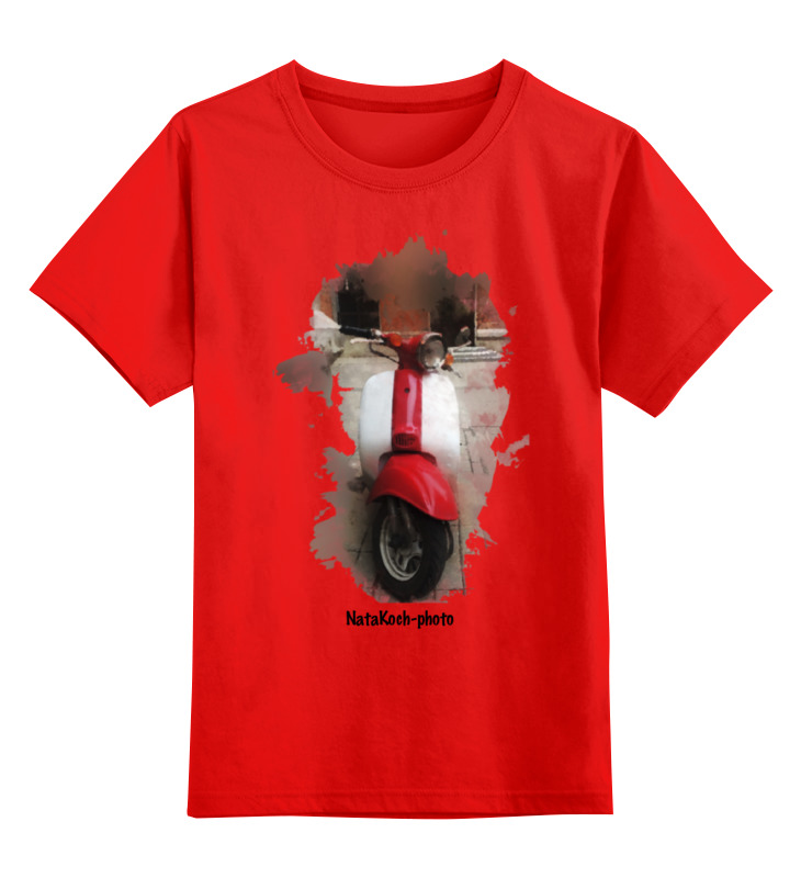 Детская футболка классическая унисекс Printio Скутер