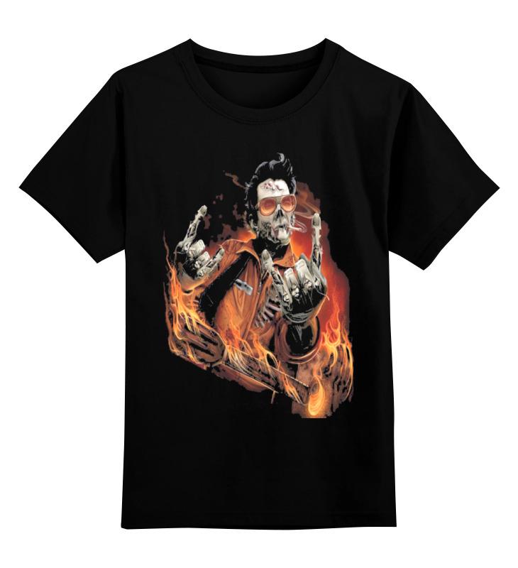 Детская футболка классическая унисекс Printio Зомби рок-гитарист цена и фото