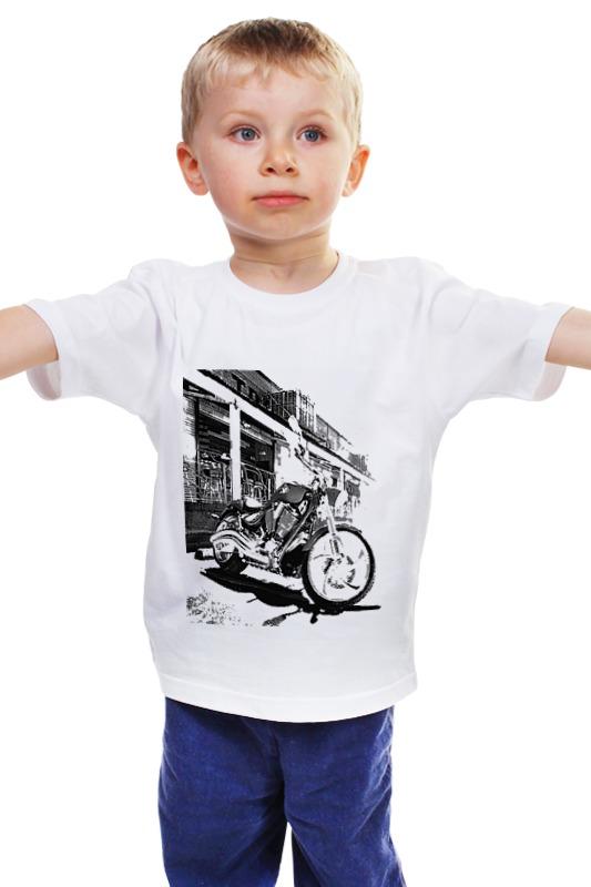 Детская футболка классическая унисекс Printio Мотоциклы