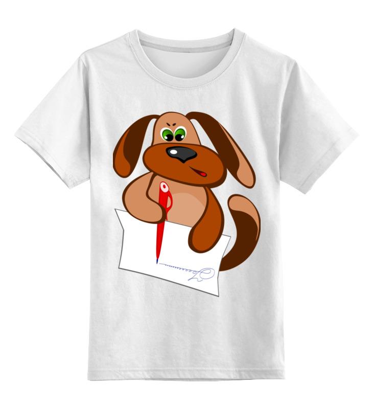 Printio Пес захар пишет письмо детская футболка классическая унисекс printio пес на доске